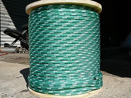 """NovaTech XLE Sheet Halyard line 3//8/"""" x 150/' White//Green"""
