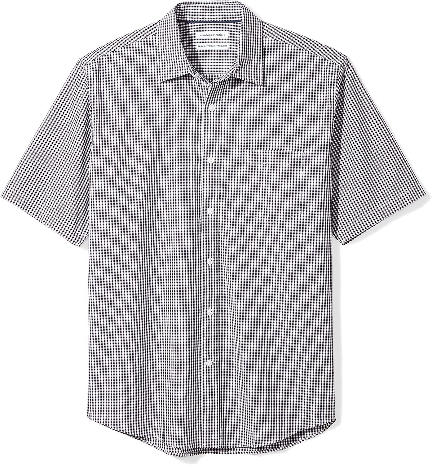 1960s Mens Shirts | 60s Mod Shirts, Hippie Shirts Amazon Essentials Mens Regular-fit Short-Sleeve Poplin Shirt $17.42 AT vintagedancer.com