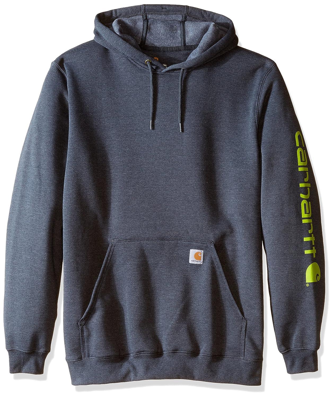 (カーハート) Carhartt メンズ ビッグ&トール シグネチャースリーブ ロゴミッドウェイト フード付きスウェットシャツ B013PTRA6Y 3X-Large / Tall|ヘザーチャコール ヘザーチャコール 3X-Large / Tall