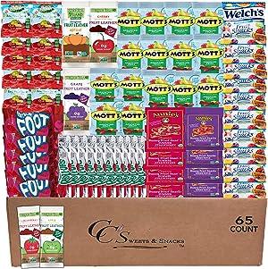 Fruit Snacks Variety Pack Bulk (65 count) Snacks for Kids Includes - Fruit Roll Ups, Motts Fruit Snacks, Gushers Fruit Snacks, Fruit by the Foot, Welch's Fruit Snacks, Annies Fruit Snack