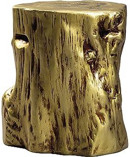 Amazoncom Elegant Silver Tree Stump Accent Table Pedestal Round - Silver tree stump side table