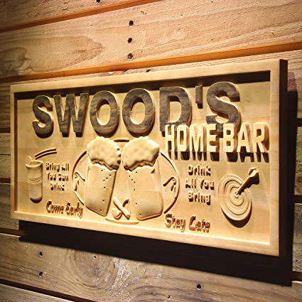Advpro Wpa0053 Name Personalized Home Bar Wooden 3d Engraved Sign Custom Gift Craved Bar Beer Home Decor Lake House Plaques Game Room Den Wood Signs