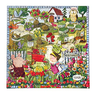 eeBoo Growing a Garden Puzzle for Kids, 64 Pieces: Toys & Games