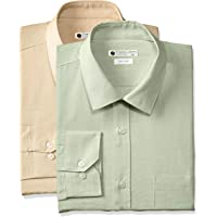 Amazon Brand - Symbol Men's Solid Formal Shirt (Pack of 2)