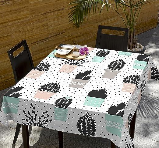 Mantel algodón Estampado Cactus Skiro (150 x 150 cm): Amazon.es: Hogar