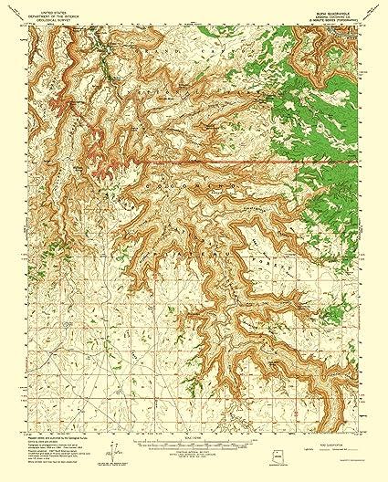 Supai Arizona Map.Amazon Com Topographical Map Print Supai Arizona Quad Usgs 1962