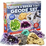 The Magic Toy Shop 2 in 1 Create And Break Your Own Geode Set World Of Science Kit Kids Craft Toy