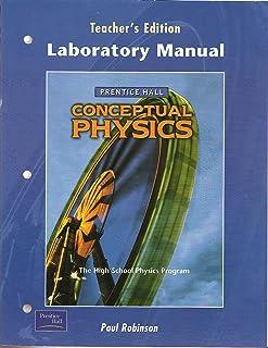 amazon com conceptual physics laboratory manual 9780130542571 rh amazon com hewitt conceptual physics lab manual pdf Physics 1 Lab Manual