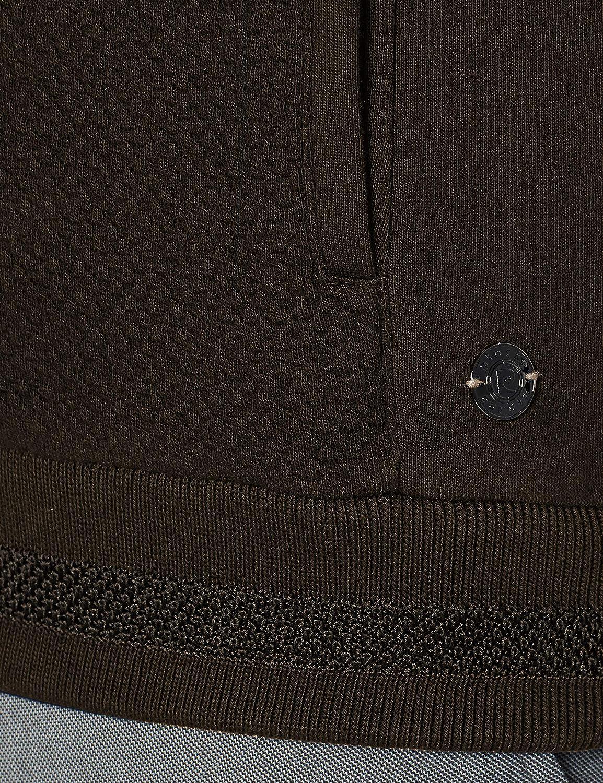 Pierre Cardin Futureflex Sweatshirt Collegejacke Struktur Cardigan Uomo