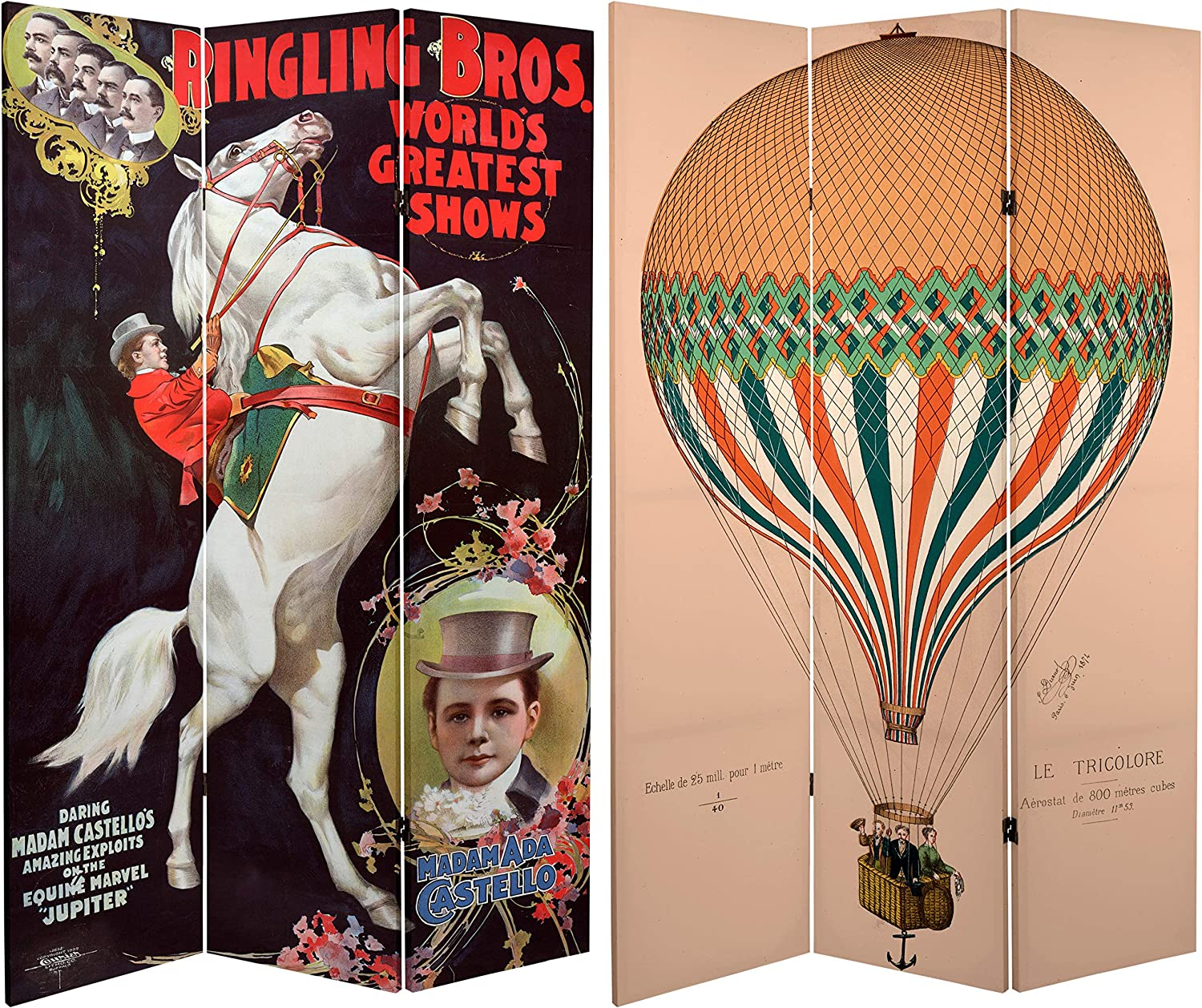 Oriental Furniture 6 ft. Tall Double Sided Circus Room Divider