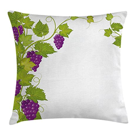Amazon Com Ambesonne Grapes Home Decor Throw Pillow Cushion Cover