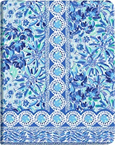 """Lilly Pulitzer Blue Concealed Spiral Journal, 6.5"""" x 8.25"""" with 102 Pages, High Manetenance"""