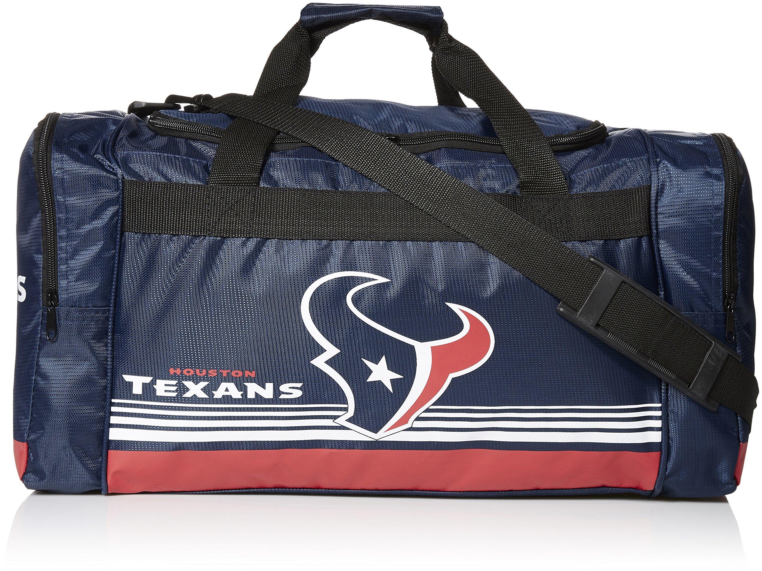 FOCO Houston Texans Medium Striped Core Duffle Bag