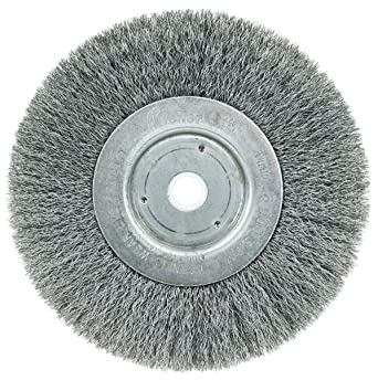 Weiler 01035 Trulock 5 8 1 2 Arbor 0 006 Wire Size 6 Diameter 3 4 Face Width Steel Bristles Narrow Face Crimped Wire Wheel Brush Abrasive Wheel Brushes Amazon Com Industrial Scientific