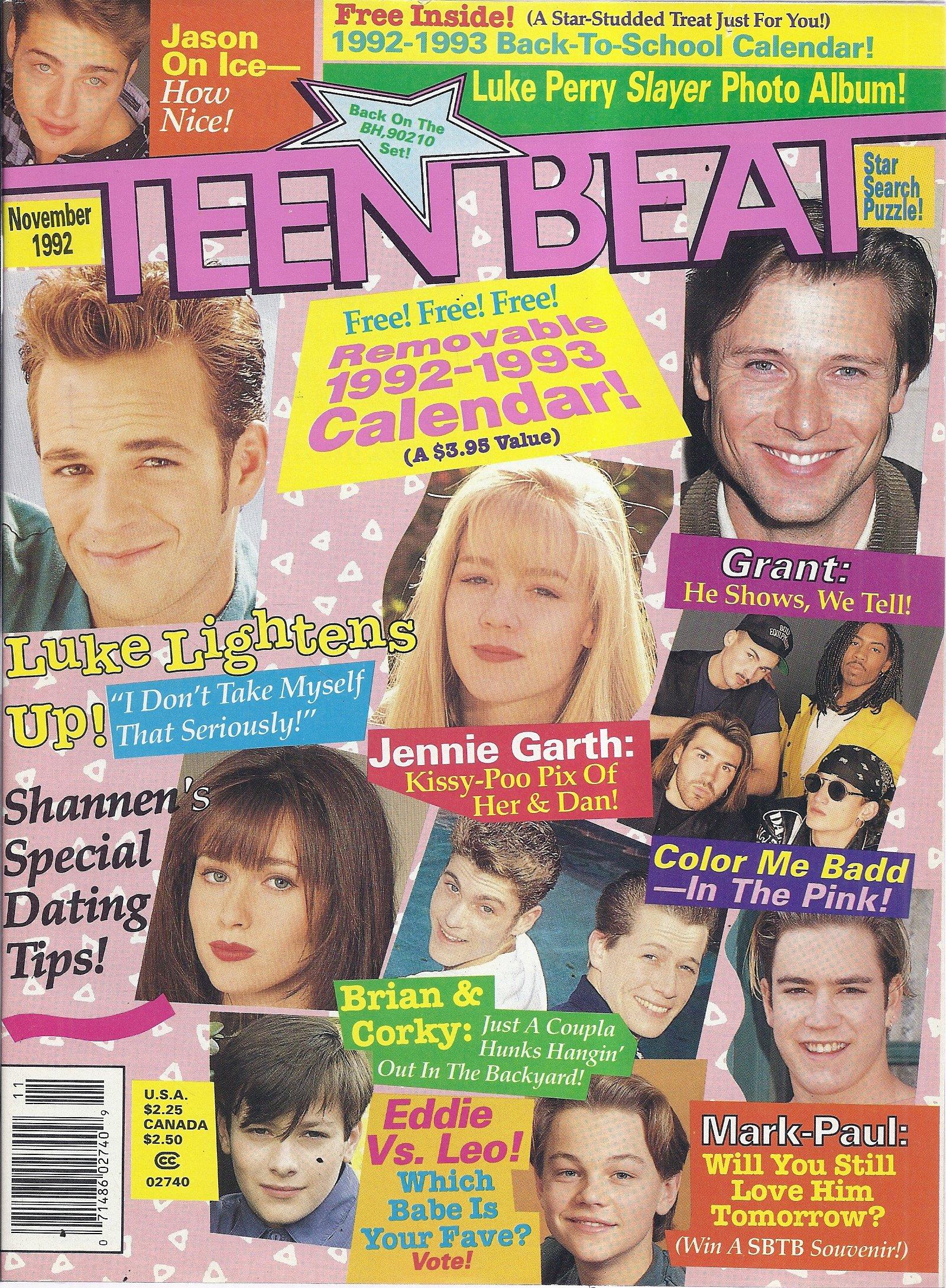 Teen Beat Magazine (November 1992 - Luke Perry, Will Smith, Marky Mark)  Single Issue Magazine – 1992