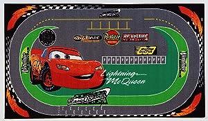 Disney Action Line Cars Tappeto, Materiale Sintetico, 133 x 19 cm