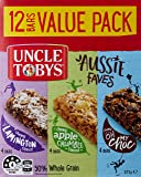 UNCLE TOBYS Muesli Bars Aussie Favourites Variety, 12 Bars Value Pack, Variety Pack, 375g