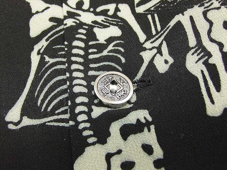 Dry Bones Hawaiian Shirt Skull DS-2340 Men's Short Sleeve