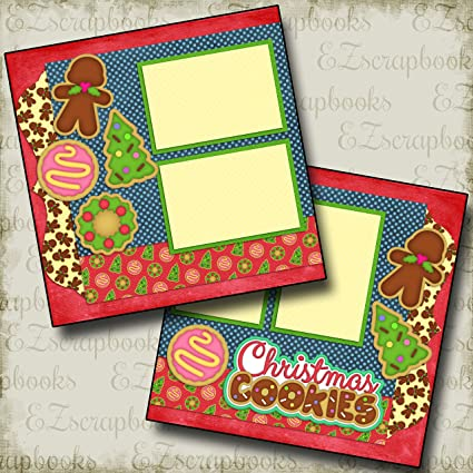 Amazon Com Christmas Cookies Premade Scrapbook Pages Ez Layout 929