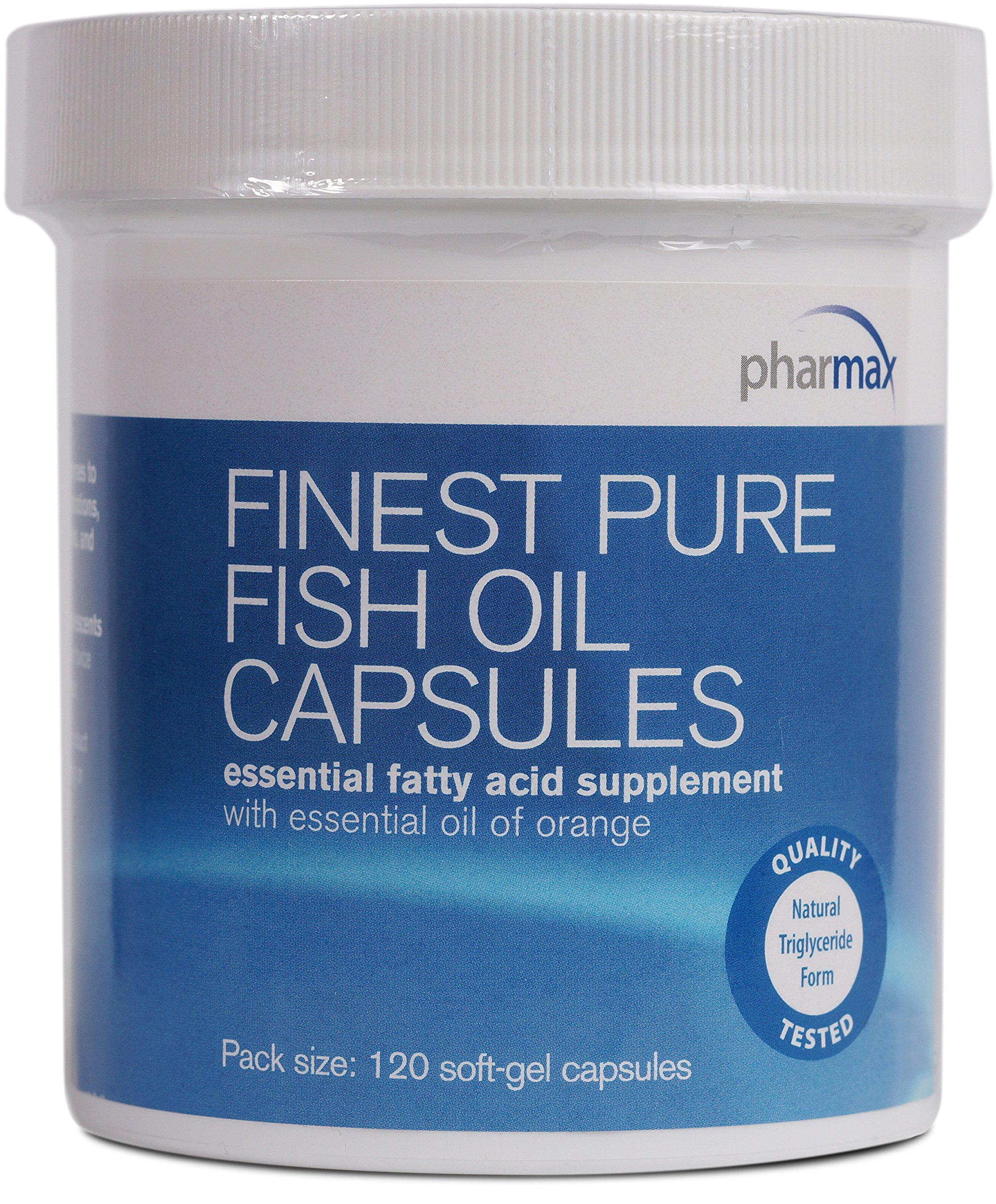 Pharmax - Finest Pure Fish Oil Capsules - Supports Cognitive Health and Brain Function* - 120 Softgel Capsules