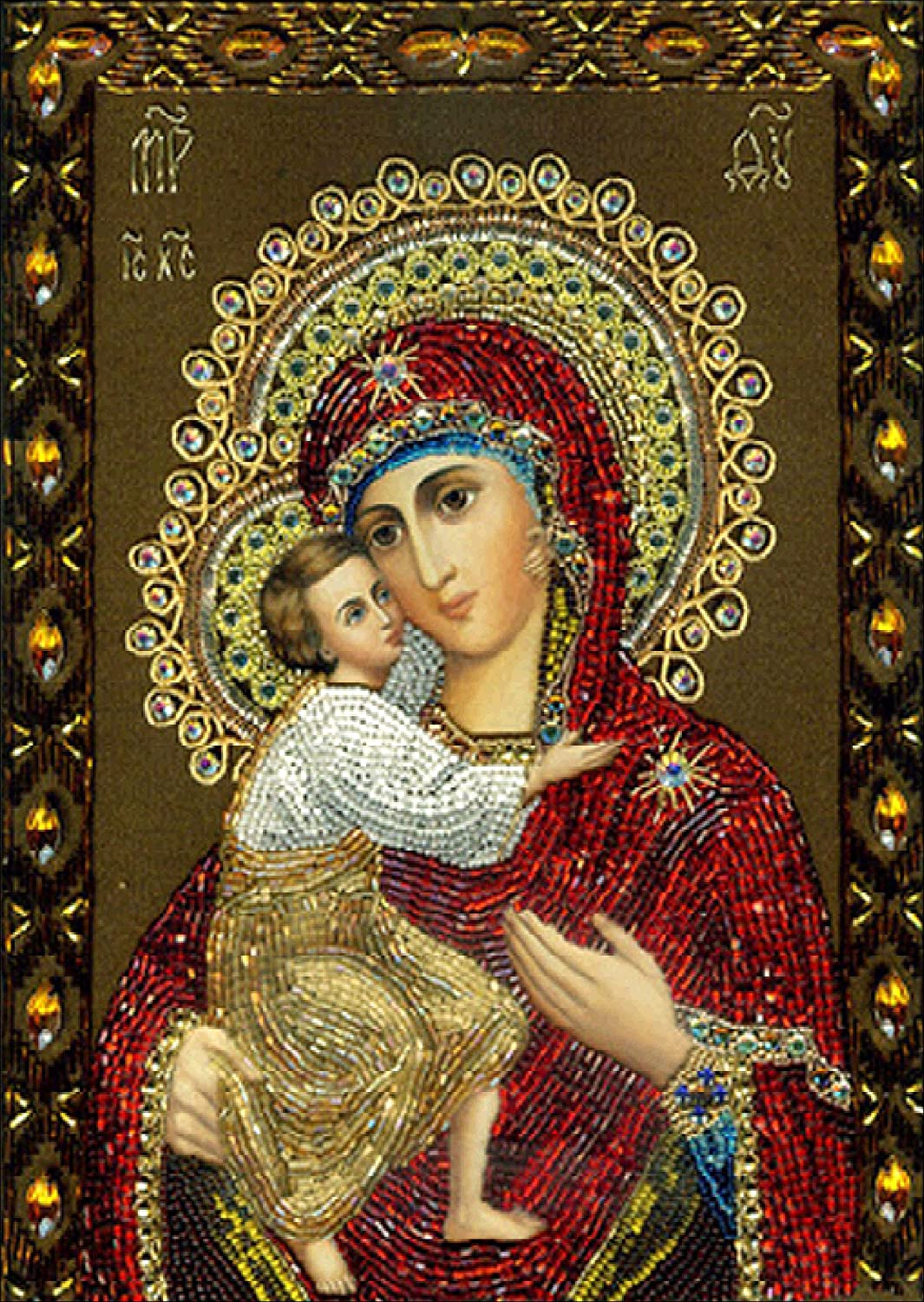 5D DIY Diamond Painting kit Rhinestone Embroidery Cross Stitch Arts for Craft Home Wall Decor,Virgin Mary And Baby Jesus