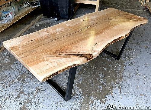 Amazon Com Wood Bar Top Epoxy Resin Table Live Edge