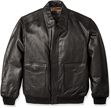 Excelled Men s Big and Tall Leather Flight Jacket at Amazon Men s ... e9b081e78939