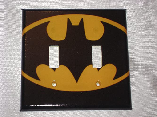 Amazon Batman Bat Symbol Dc Comics Double Light Switch Plate