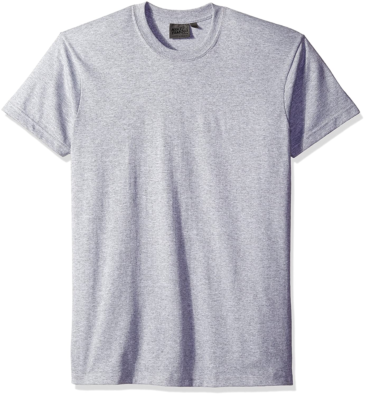 Naked - Famous Denim Men's Ring Spun Cotton T-Shirt, Heather Grey, X-Large