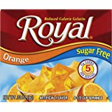 Royal Gelatin, Sugar Free, Orange, 0.32-Ounce (Pack of 12)