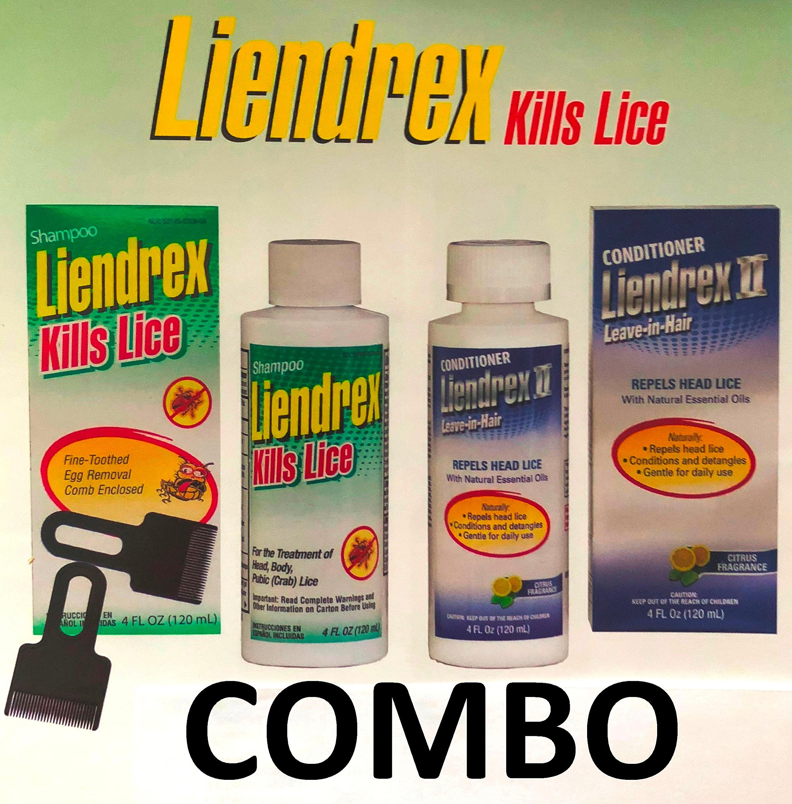 Liendrex Lice Control Complete Combo Treatment. MATA piojos by Liendrex