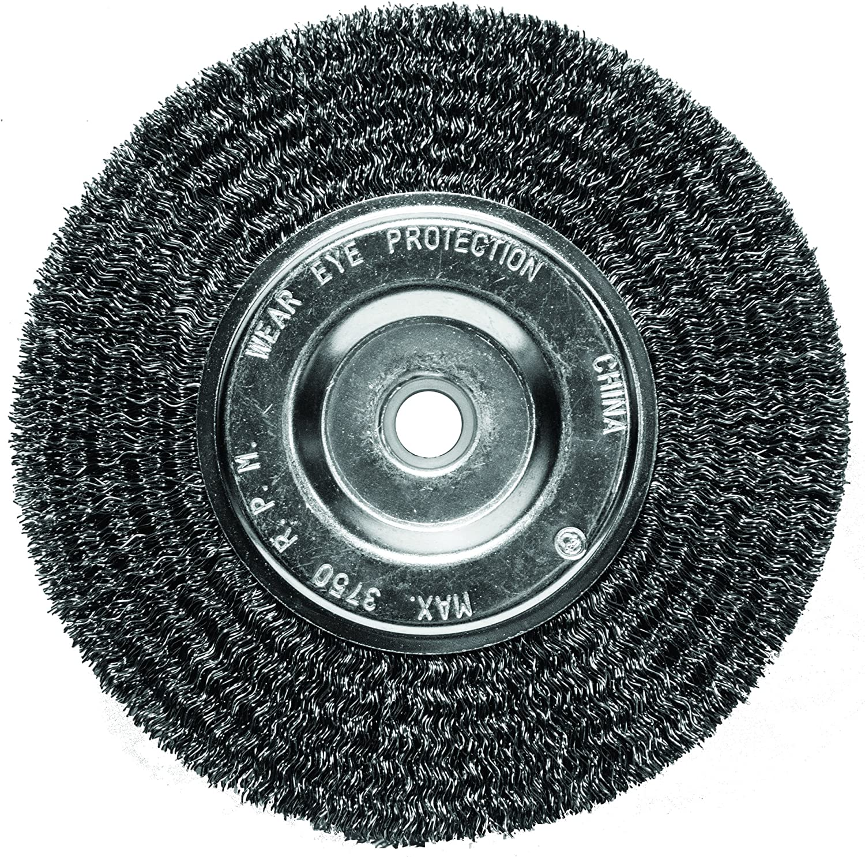 "Black /& Decker 8/"" Professional Wire Wheel Brush 2/"" Arbor Hole USA Made"