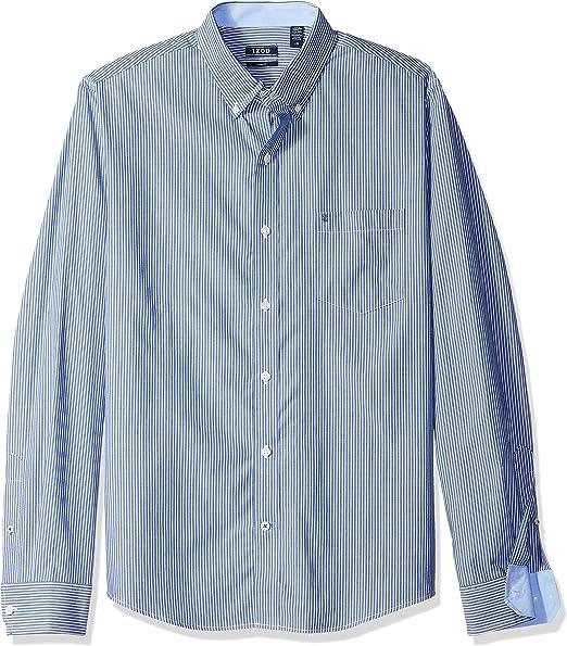 X-Large Blue IZOD Little Boys Long Sleeve Stripe Oxford Shirt