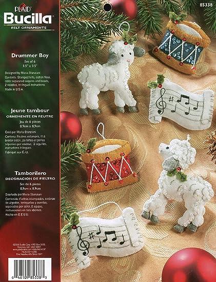 Drum Ornaments Crochet Drum Set of 3 Christmas Tree Ornament