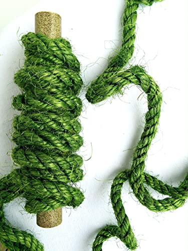 25' Green Sisal Rope, Dyed Avocado Color, (1/4
