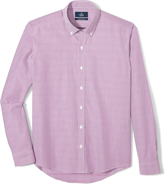 Amazon Brand - BUTTONED DOWN Men's Slim Fit Button-Collar Supima Cotton Dress Casual Shirt