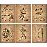 Baseball Patent Wall Art Prints - Set of Six Vintage Antique Photos