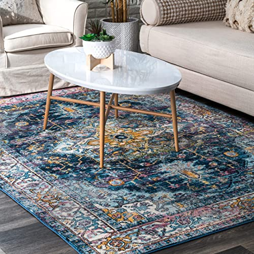 nuLOOM Blissville Medallion Area Rug, 5 3 x 7 7 , Blue