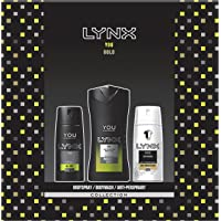 Lynx  You Trio Men's Gift Set with Body Wash, Body Spray and Anti-Perspirant - Gift Set for Him