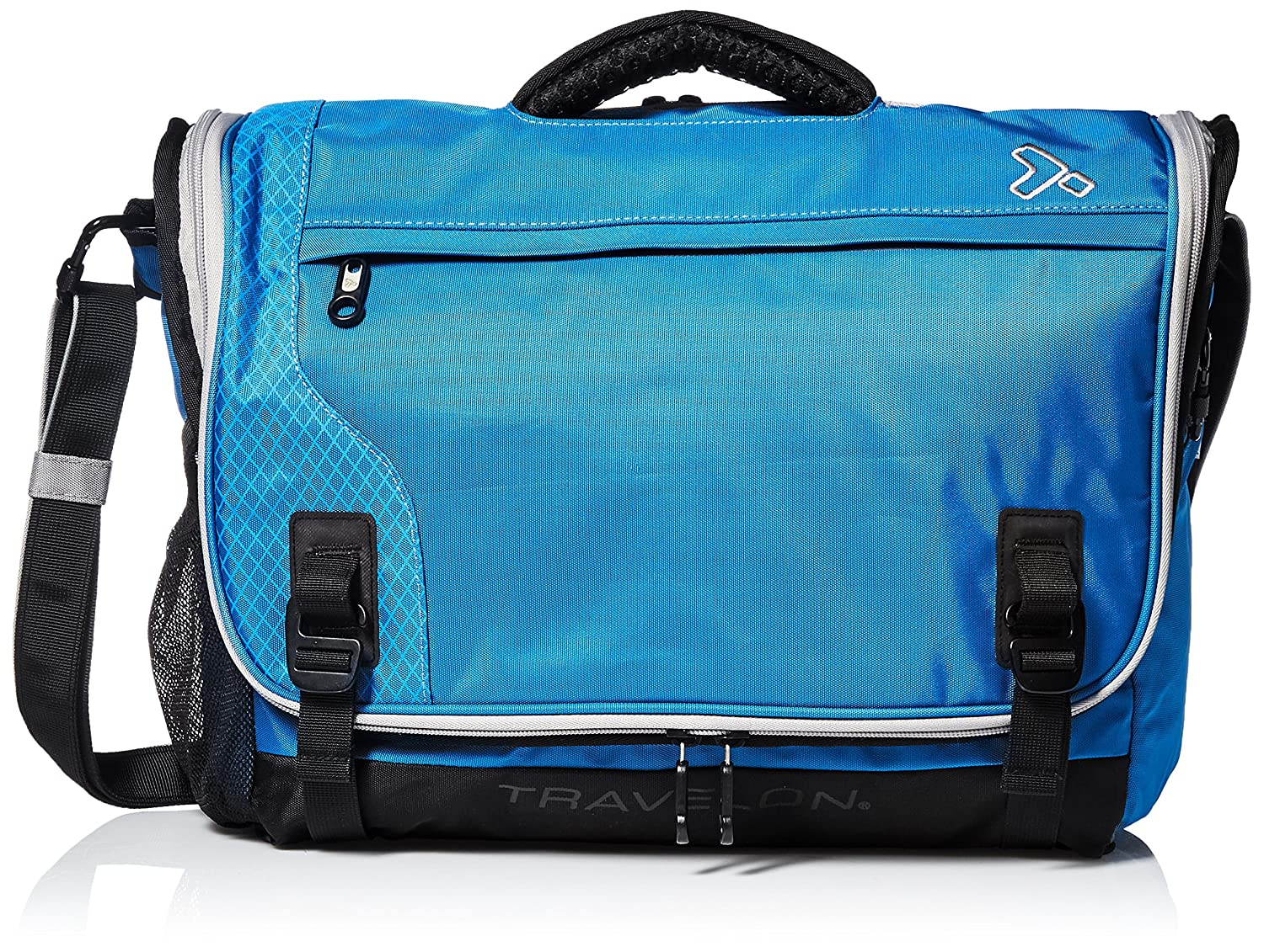 Travelon Anti-Theft React Messenger, Aqua, One Size