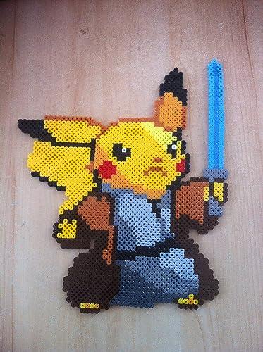 Pixel Art / Perler Beads Pokemon Pikachu Jedi: Amazon de