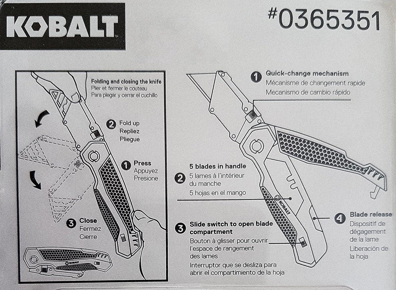 Kobalt Quick-Change Folding Utility Knife with Free Mini Utility Knife
