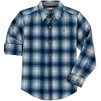Calvin Klein Camisa Manga Larga de Botones Camisa de Botones para Niños