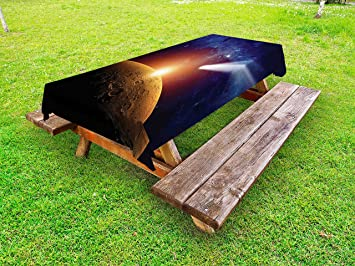 Amazoncom Ambesonne Outer Space Outdoor Tablecloth Comet Tail - Solar picnic table