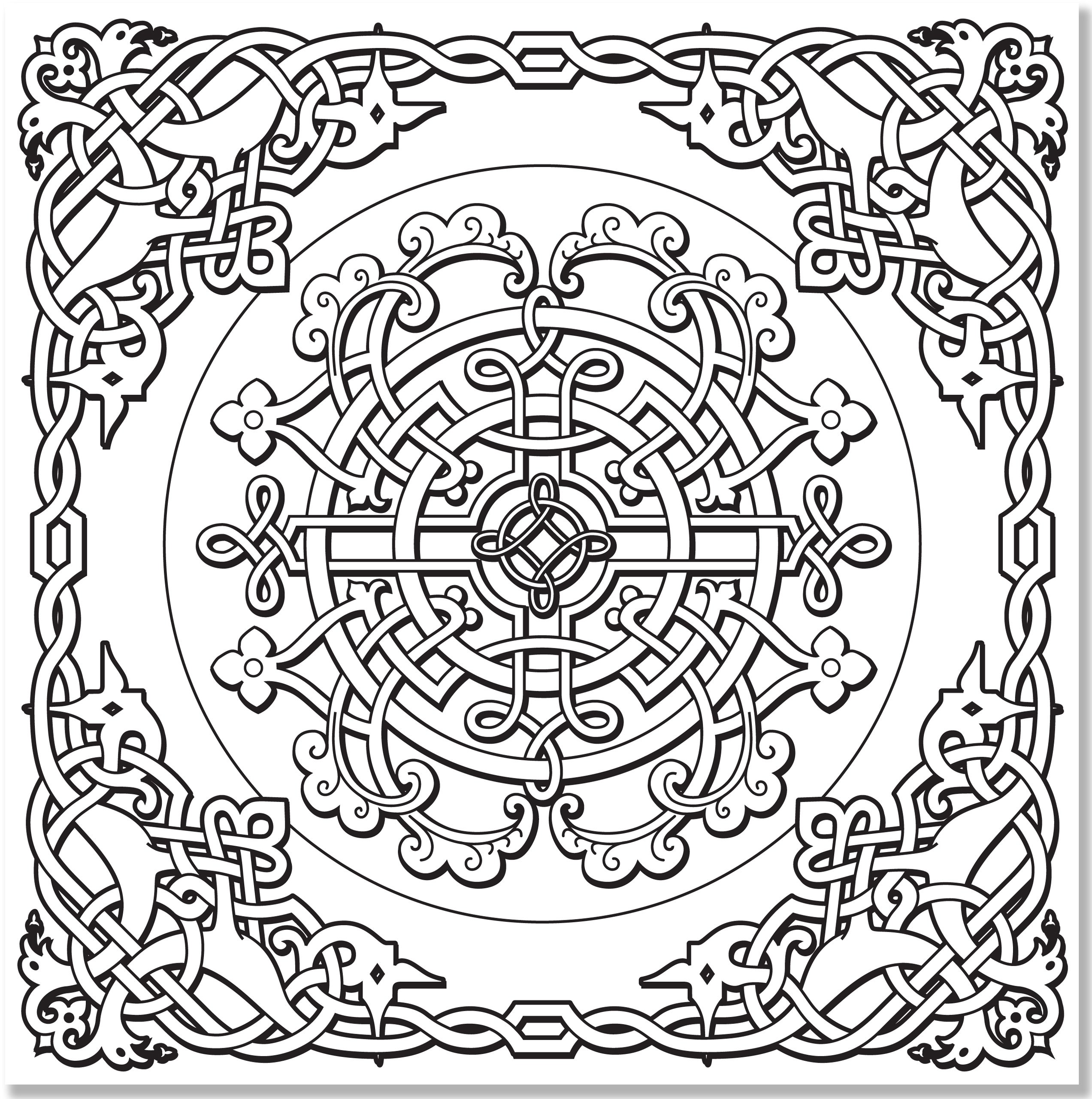 Amazon Celtic Designs Adult Coloring Book stress