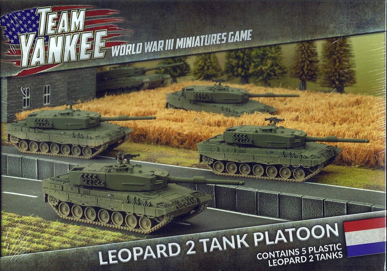 Battlefront Miniatures Team Tank Yankee NATO Leopard 2 Tank Team Platoon (Plastic) (TDBX01) Netherland Dutch Niederlande Holland Flames of War c0eabe