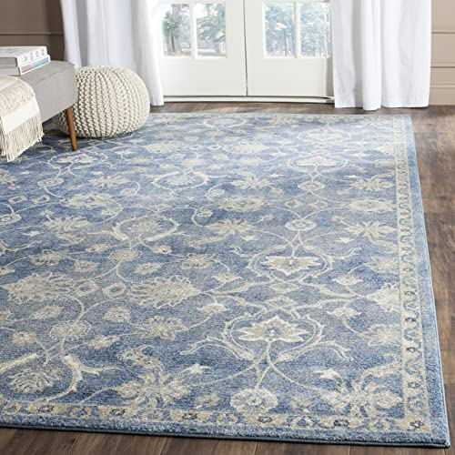 Safavieh Sofia Collection SOF386C Vintage Blue and Beige Distressed Area Rug 8 x 10