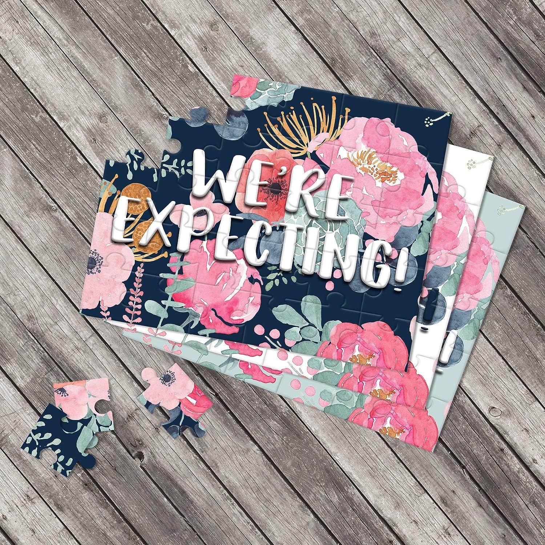We're Expecting Pregnancy Announcement Puzzle - Pregnancy Reveal - Baby Announcement - Having a baby Announcement Ideas - P2051-P2056