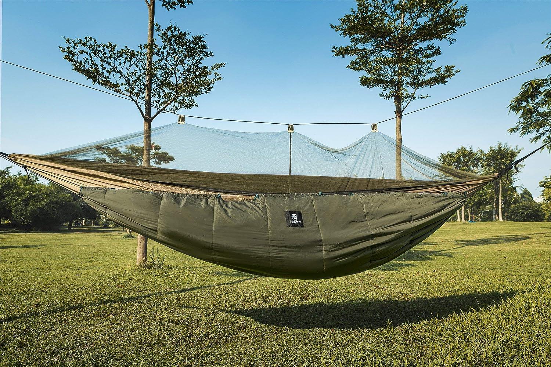 1T Gear 1T Hamac underq uilt underbl Couverture pour hamac-Warm 3Saisons pour Camping Randonnée Armee Grün für Winter 33cmx16cm