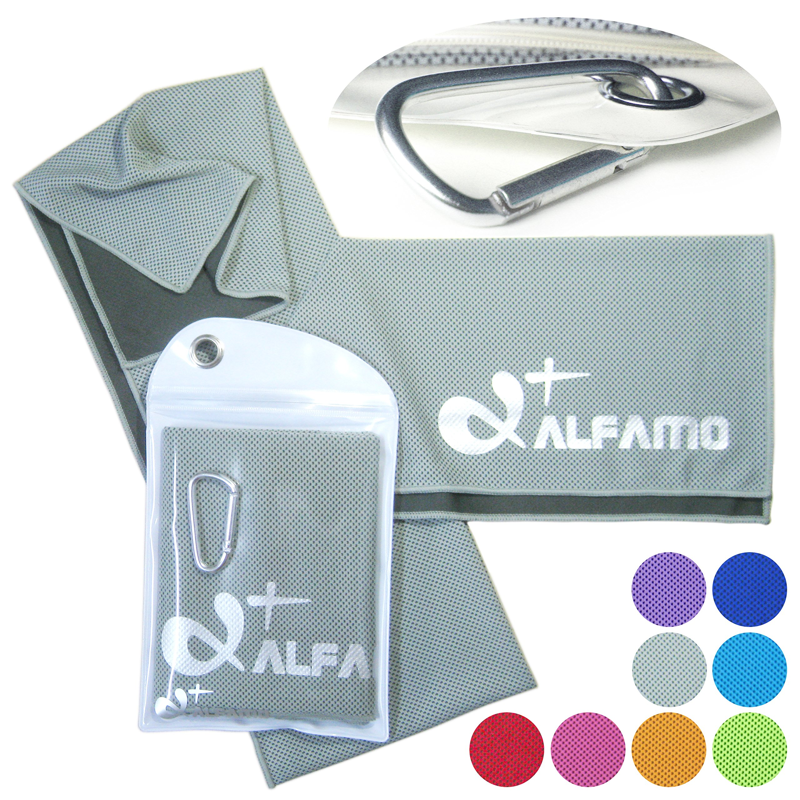 La Fitness With Towel Service: Alfamo Cooling Towel For Sports,